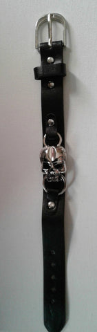 Skull Leather Band - Sara's Super Stock