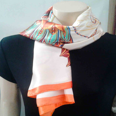 Orange Moth Scarf