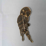 Jeweled Parrot Pin