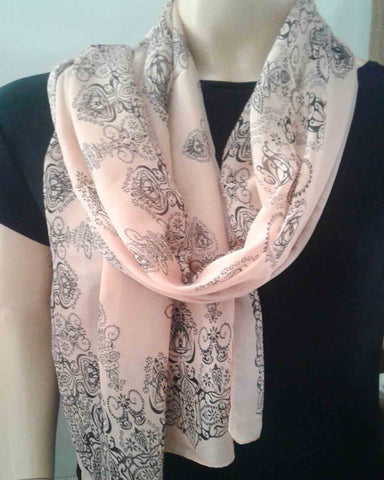 Peach Accent Scarf
