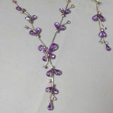 Purple TearDrop Rhinestone Set