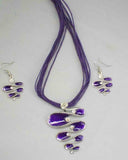 Purple FreeForm Pendant Set