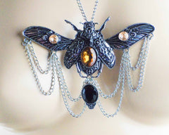 Copper- or Silver-Plate SteamPunk ButterFly Pendant