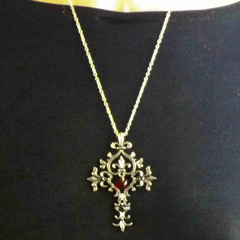 Vampire Diaries Cross Pendant