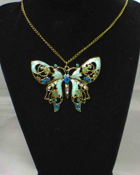 Vintage-Style Hollow Butterfly Necklace