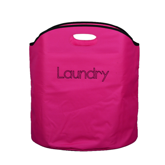 Utopia Alley Freestanding Collapsible Laundry Basket with Handles, Pink-The Cleaning Girl 2