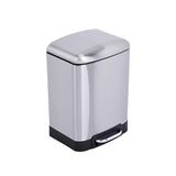 Utopia Alley Rikki Bath 6 Liter Stainless Steel Trash Can-The Cleaning Girl 2