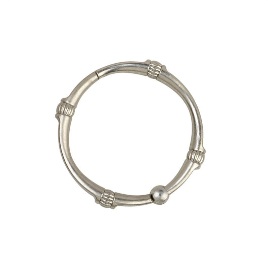Curtains Ideas brushed nickel curtain rings : NeverRust™ Aluminum Curved Shower Rod, Curtain, Ring Set, Satin ...