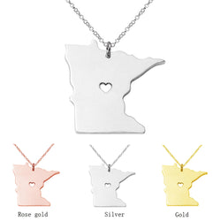 Minnesota State Necklace Map