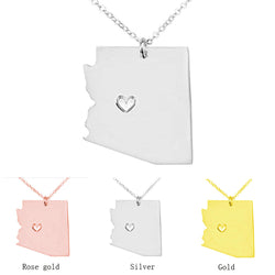 Arizona State Pendant Necklace