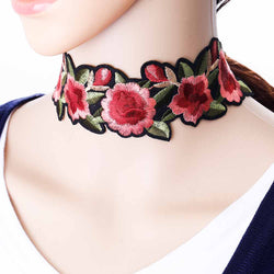 Flower Printed Choker