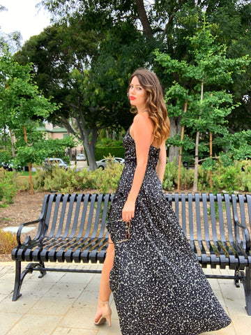 High Low Animal Print Wedding Guest Dress