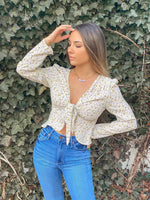 Sun City Tie-Front Blouse