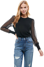 Long Sleeve Mesh Thin Sweater