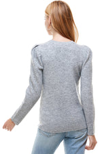 puff slv sequin sweater
