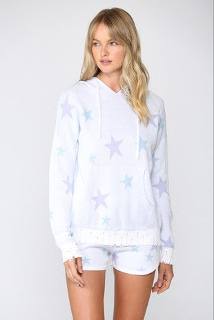 Star Knit Hooded Sweater