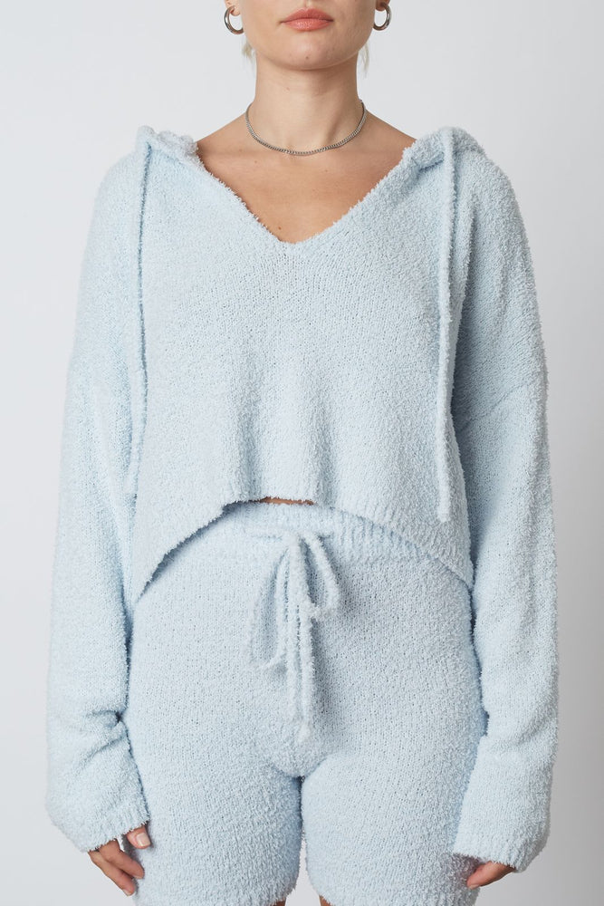 Hooded Fuzzy Sweater