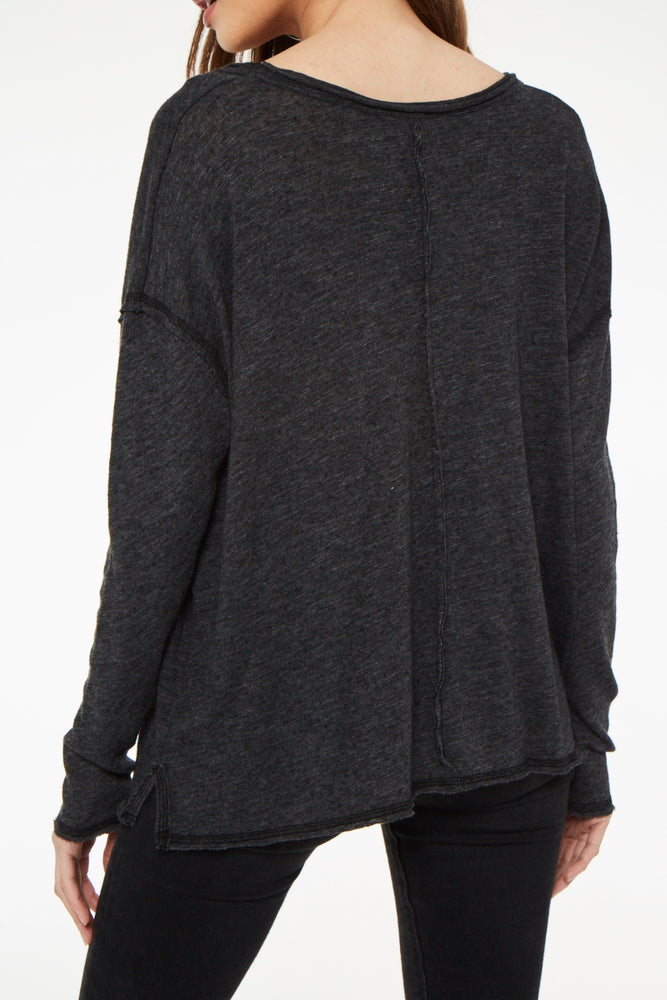 Long Sleeve Scoop Neck Tee