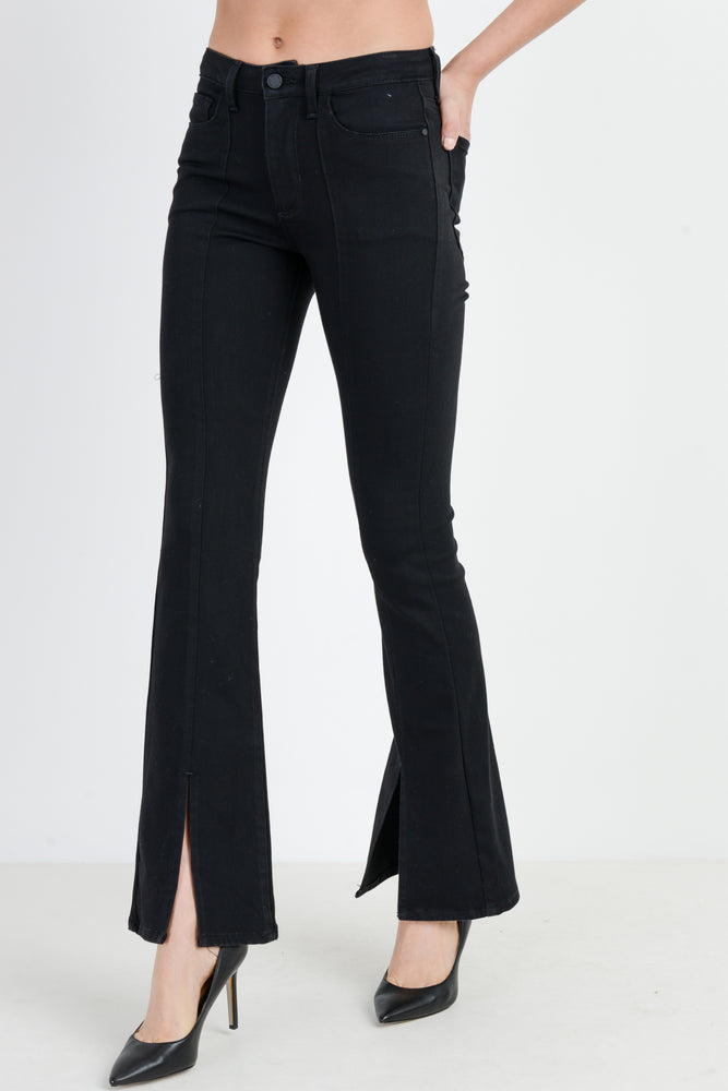 Front Seam Flare Jeans