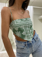 Tie Back Bandana Top