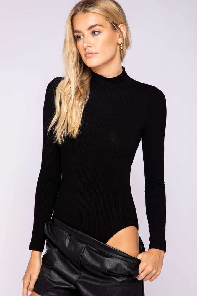 Open Back Turtleneck Bodysuit