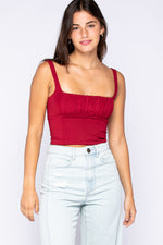 Crop Top With Layered Front