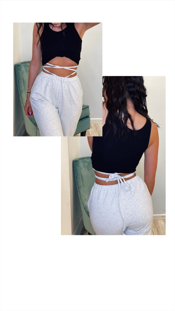 Sweatpants With Waist Tie Detail