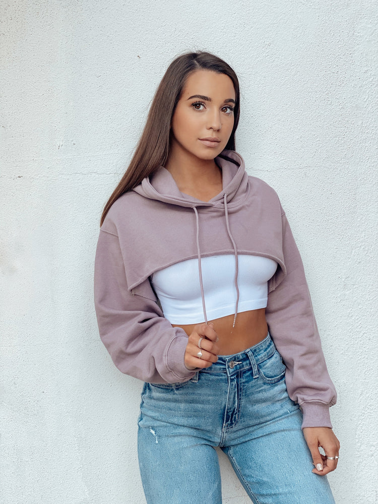 Cut Out Crop Hoodie