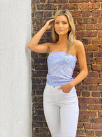 Star Print Flowy Tube Top