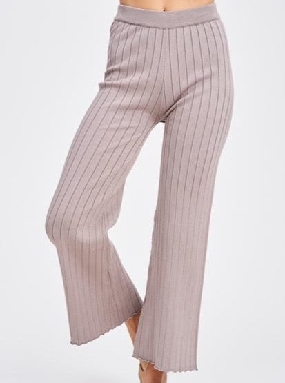 Ribbed High Waist Pant