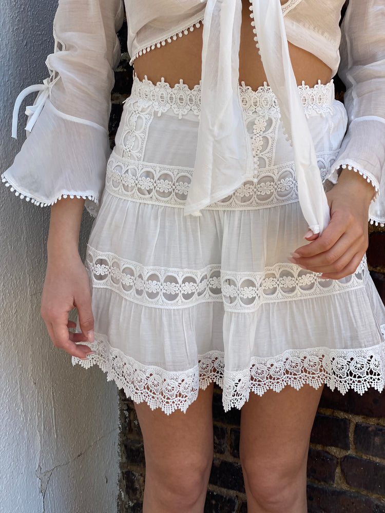 Crochet Lace Front Tie Top