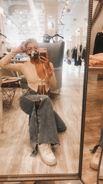 Wide Leg Snap Denim Pants