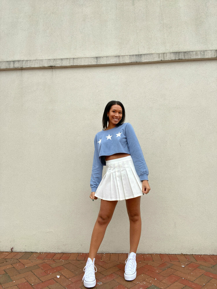 Triple Star Terry Cropped Pullover