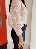 Long Sleeve Cable Knit Sweater Cardigan