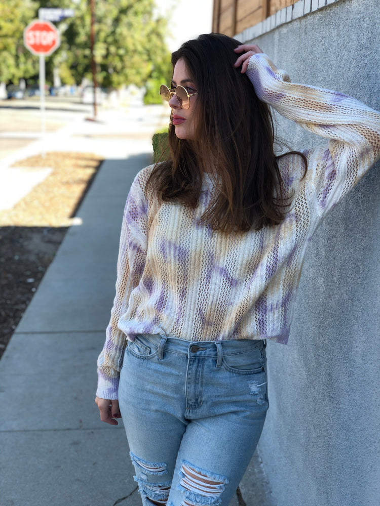 Tie Dye Knit Sweater