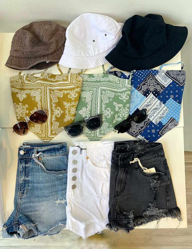 Button Down Stretch Shorts