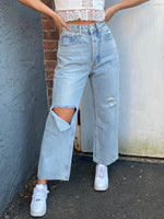Peek Knee Denim Pants