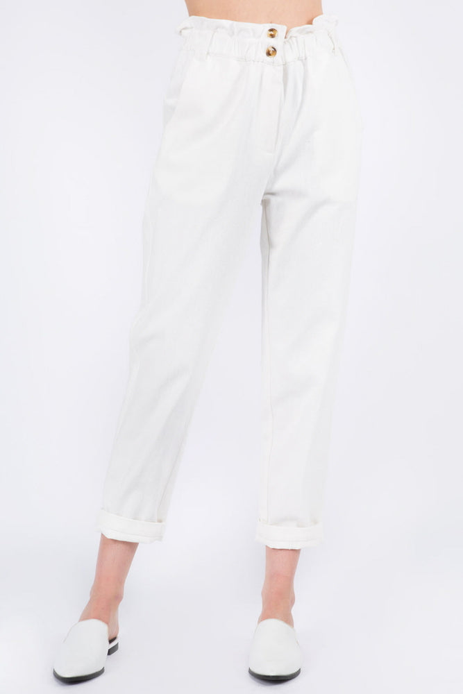 Paper Bag Button Fly Pant