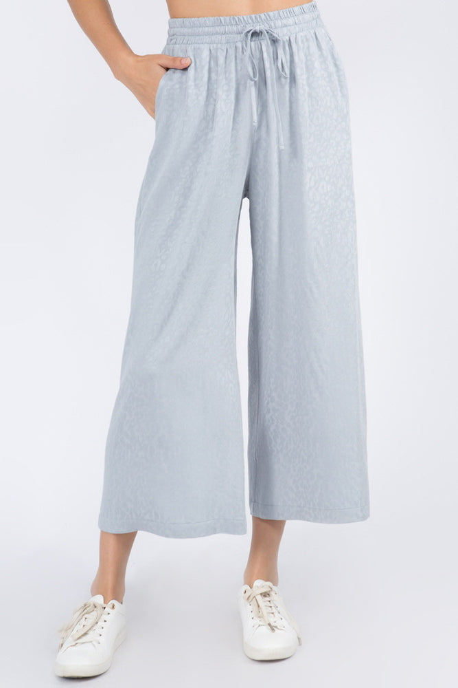 Wide Leg Muted Animal Print Pant