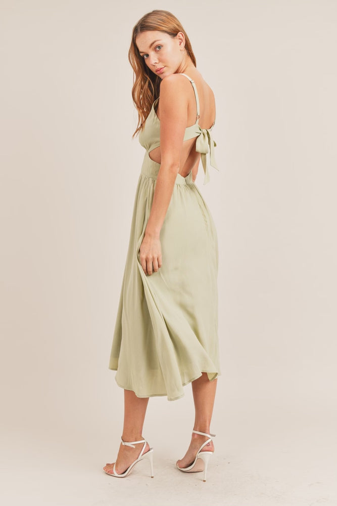 Midi Tie Back Dress