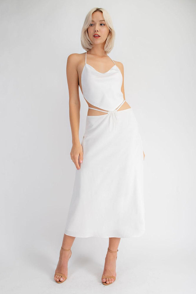 Midi Skirt With Adjustable  Waist Strap Detail
