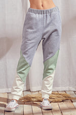 V Color Block Sweatpants