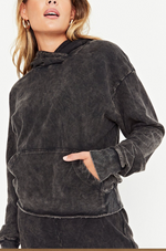 Twill Hoody Sweatshirt with Pouch