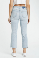 Shy Girl High Rise Crop Flare Jeans