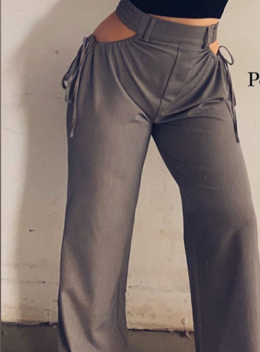 Utility Pant With Hip Cutout