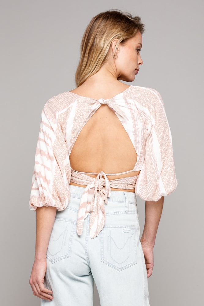 Deep V Front Tie With Open Back