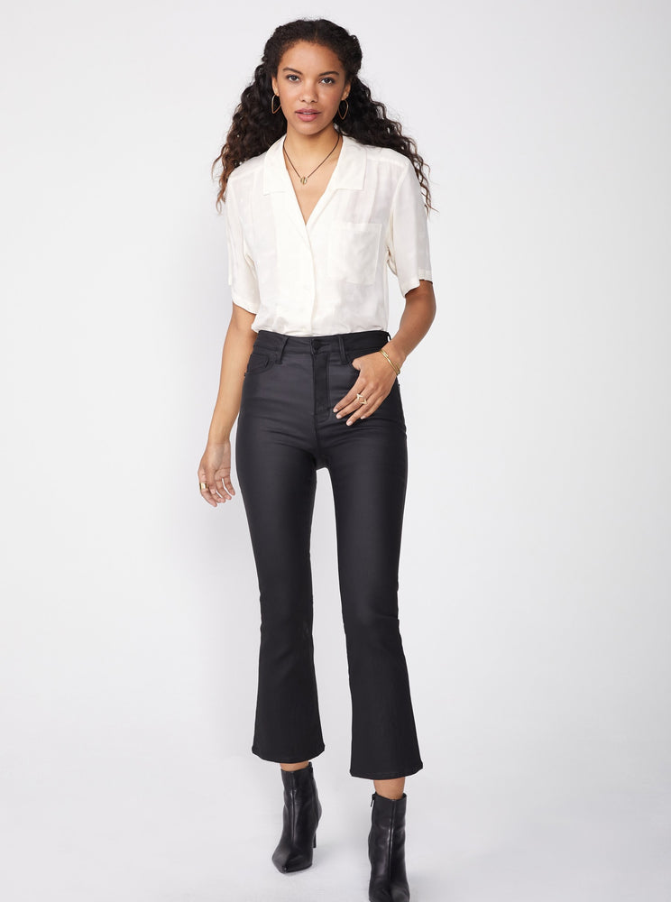 Coated Cropped Jeans