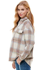 Oversized Zip Plaid Shirt