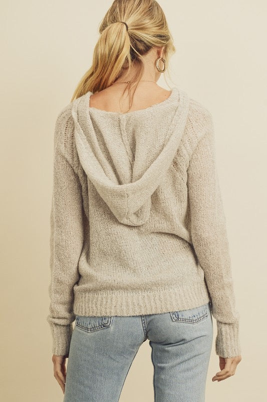 Soft Knit Hooded Sweater