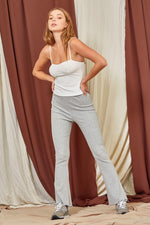 Ruffle Bottom Flare Pants